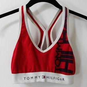 af51cda5c2930 Tommy Hilfiger Red White Lounge Bra Size S P